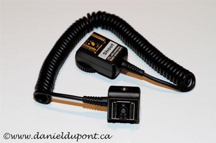 Câble synchro pour flash Canon